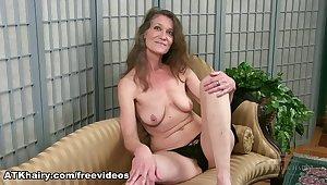 Staggering pornstar in Imposing Hairy, Brunette sex scene