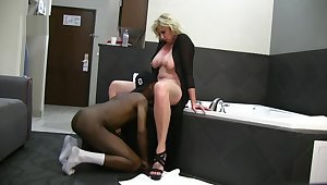Busty Blonde Spliced Enjoys BBC Inn Fun on Vacation while husband films