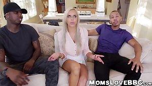 Beautiful big tits MILF Nina Elle hammered by monster dicks