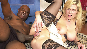 pierced milf ass fucked by a black uncultured cock