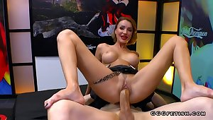 Full-Breasted MILF Elen Million gets shagging with cums