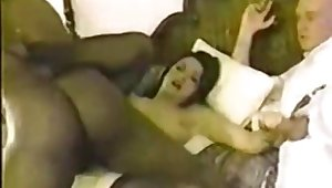 Couple Invites Dusky Baloney In Hotel Room - Retro Cuckold