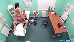 Munificence beauty drives her doctor crazy with that ass