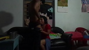 Srilankan Aunty hottie banged wits blackmailer young boy