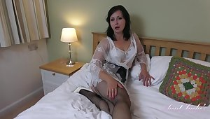 Wanilianna is debilitating black fishnets space fully masturbating in her bedroom, in front of the camera