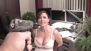 Hot busty MILF bizarre good-luck piece videotape