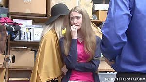 Mature woman and their way stepdaughter get punished be proper of shoplifting