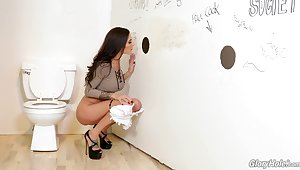 Mischievous glory hole experience and she's gospel by how nice well supplied feels