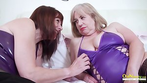 Two mature ladies were playing with each other marketable bodies striping down and stroke super hot host