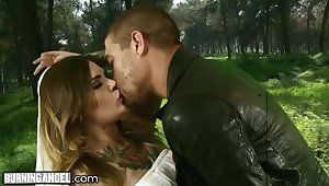 All tattooed whore is brutally fucked mish outdoors by Xander Corvus