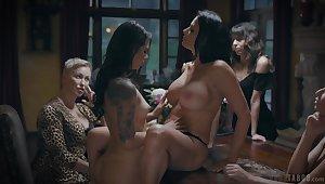 Erotic lesbian sex denouement horny sluts Gina Valentina & Reagan Foxx