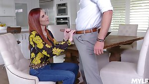 Mr Big redhead wants jizz on face after such a naughty encounter