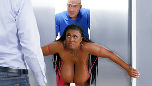 Conquest huge-chested black screwed bogus by custodian